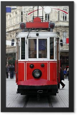 Istanbul Public Tram Framed Poster