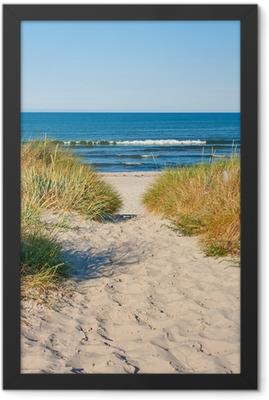 Beach access Framed Poster