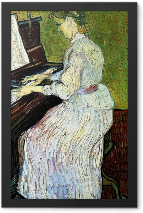 Poster en cadre Vincent van Gogh - Marguerite Gachet au piano - Reproductions