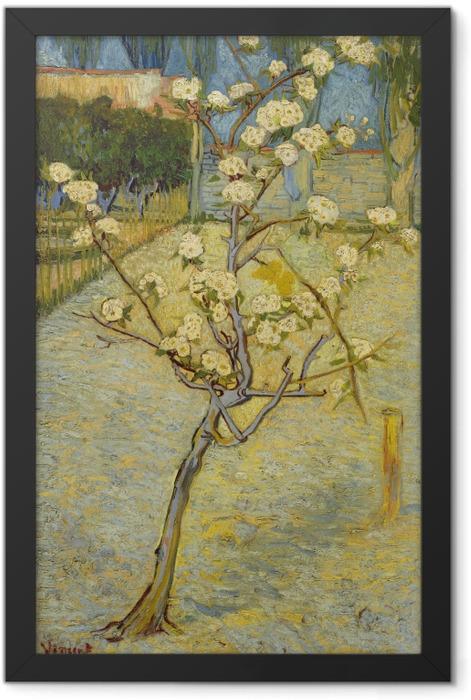 Plakat w ramie Vincent van Gogh - Kwitnące drzewo brzoskwiniowe - Reproductions