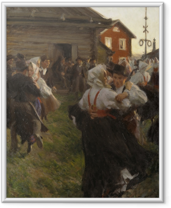 Anders Zorn - Midsummer Dance Framed Poster - Reproductions