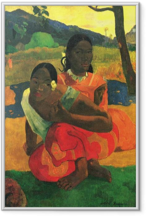 Gerahmtes Poster Paul Gauguin - Nafea faa ipoipo (Wann heiratest du?) - Reproduktion