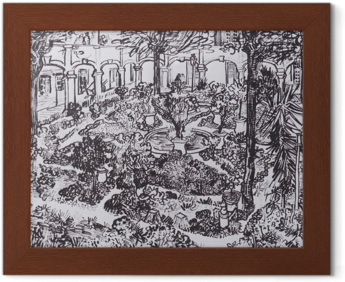 Poster in Cornice Vincent van Gogh - Il cortile dell'ospedale - Reproductions