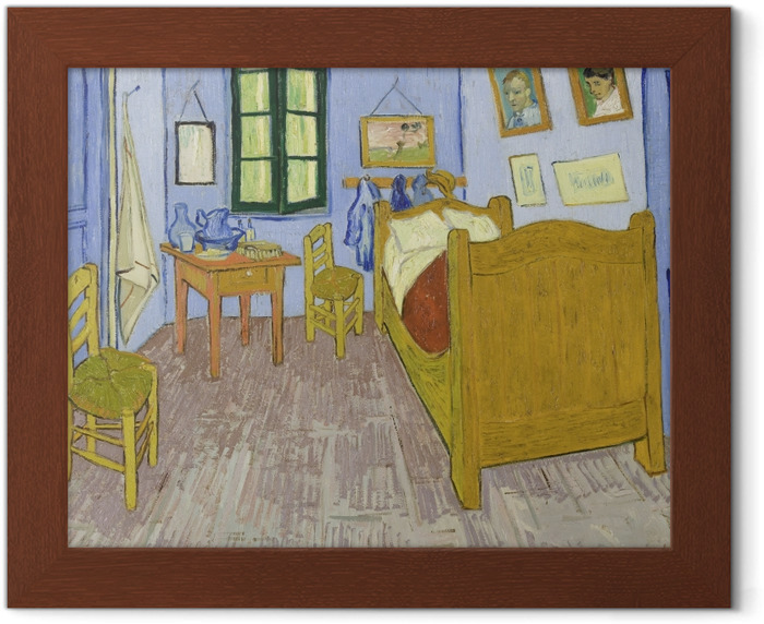 Gerahmtes Poster Vincent van Gogh - Schlafzimmer in Arles - Reproductions