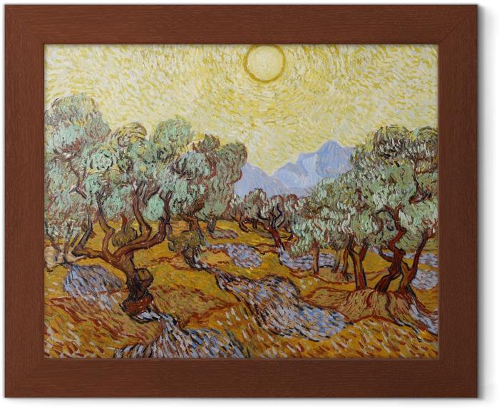 Vincent van Gogh - Olive garden Framed Poster - Reproductions