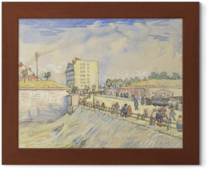 Vincent van Gogh - Gate in the Paris Ramparts Framed Poster - Reproductions