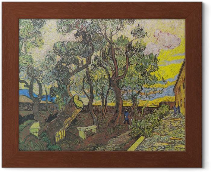 Vincent van Gogh - The Garden of Saint Paul Hospital Framed Poster - Reproductions