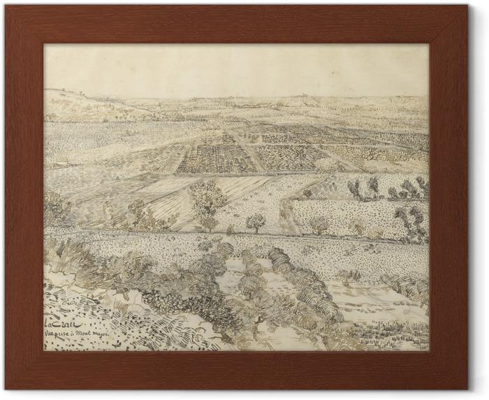 Póster Enmarcado Vincent van Gogh - Vista de la Crau de Montmajour - Reproductions
