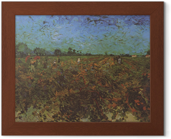 Vincent van Gogh - The Green Vineyard Framed Poster - Reproductions
