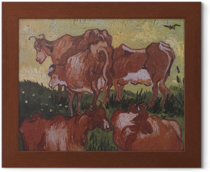 Poster en cadre Vincent van Gogh - Les vaches - Reproductions