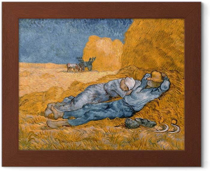 Vincent van Gogh - Noon, or The Siesta, after Millet Framed Poster - Reproductions