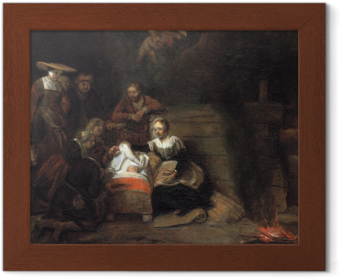 Rembrandt - The Adoration of the Shepherds Framed Poster - Reproductions