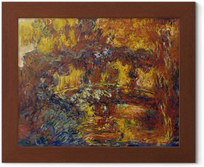 Gerahmtes Poster Claude Monet - Die japanische Brücke - Reproduktion