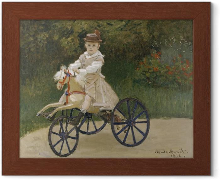 Poster in Cornice Claude Monet - Jean Monet sul suo Hobby Horse - Riproduzioni