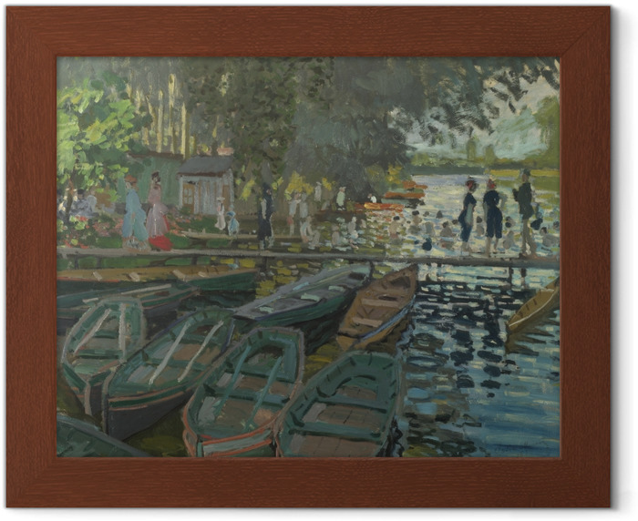 Claude Monet - Bathers at La Grenouillere Framed Poster - Reproductions
