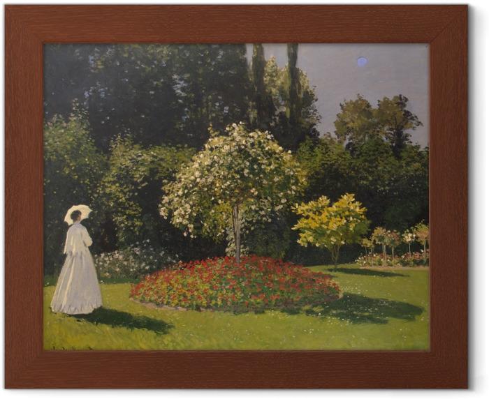 Plakat w ramie Claude Monet - Kobieta w ogrodzie - Reprodukcje