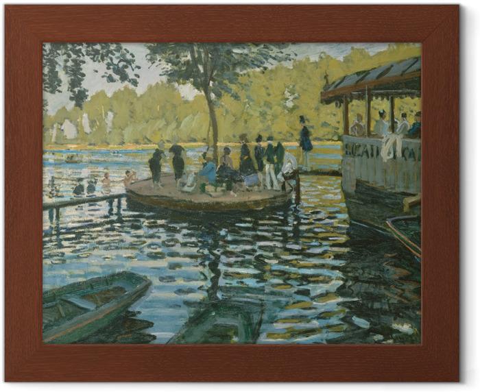 Poster in Cornice Claude Monet - La Grenouillère - Riproduzioni
