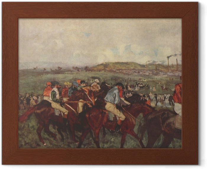 Edgar Degas - Horse Racing Framed Poster - Reproductions