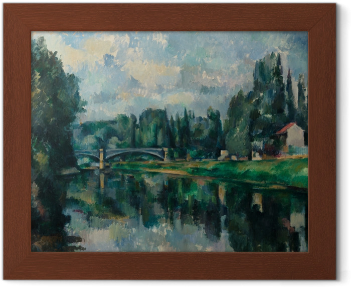 Paul Cézanne - The Banks of the Marne at Creteil Framed Poster - Reproductions