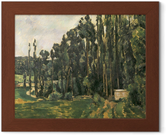 Paul Cézanne - The Poplars Framed Poster - Reproductions