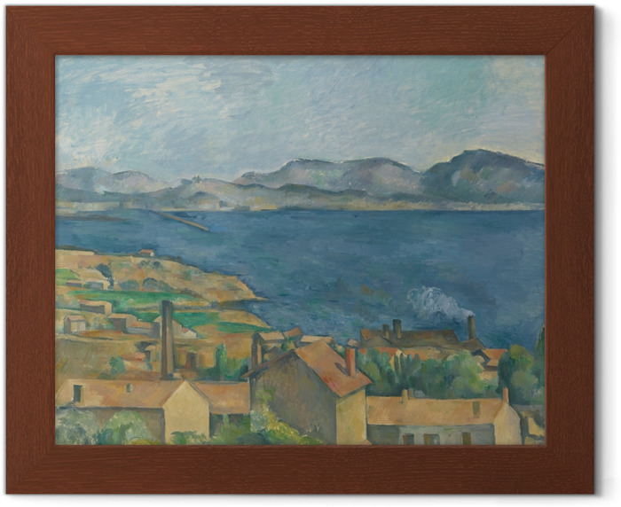 Paul Cézanne - L'Estaque, View from the Bay of Marseilles Framed Poster - Reproductions