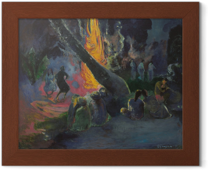 Paul Gauguin - Upa Upa (The Fire dance) Framed Poster - Reproductions