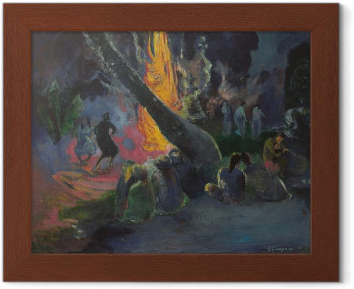 Ingelijste Poster Paul Gauguin - Upa Upa (De vuurdans) - Reproducties