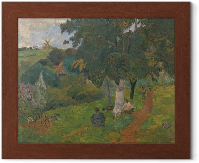 Plakát v rámu Paul Gauguin - Přicházejí a odcházejí. Martinique - Reprodukce