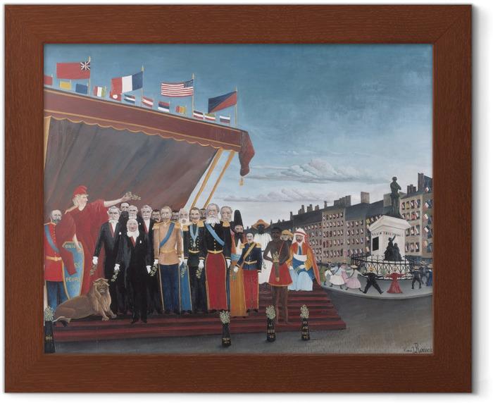 Ingelijste Poster Henri Rousseau - De vertegenwoordigers van buitenlandse mogendheden groeten de Republiek als Teken van Vrede - Reproducties