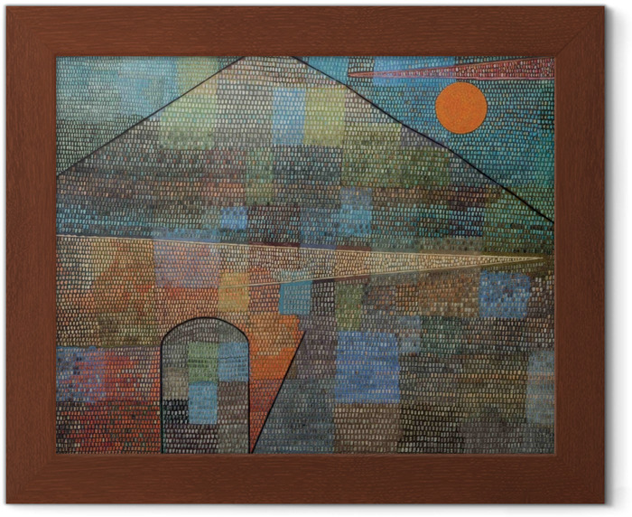 Poster in Cornice Paul Klee - Ad Parnassum - Riproduzioni