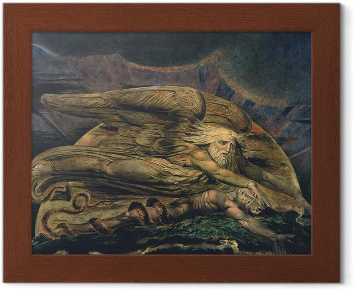 Póster Enmarcado William Blake - Elochim Creación de Adán - Reproducciones