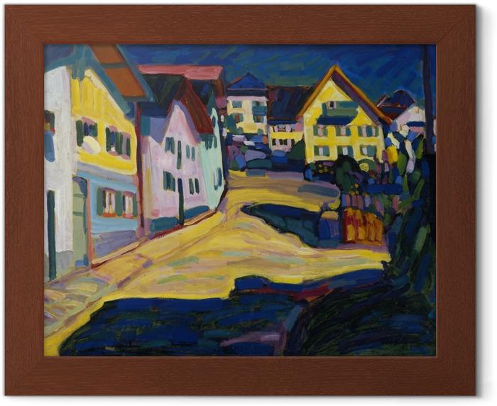 Poster en cadre Vassily Kandinsky - Murnau Burggrabenstrasse - Reproductions