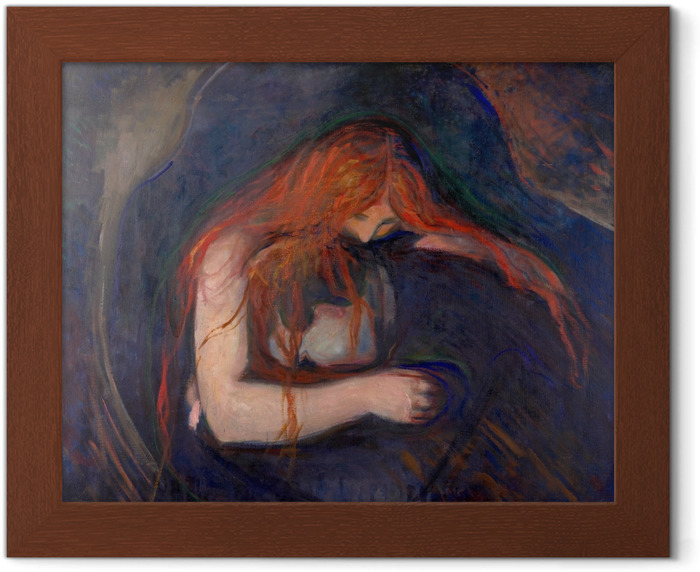 Edvard Munch - Vampire Framed Poster - Reproductions