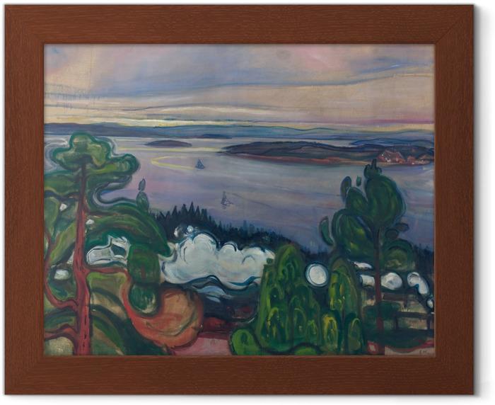 Póster Enmarcado Edvard Munch - Tren de humo - Reproducciones