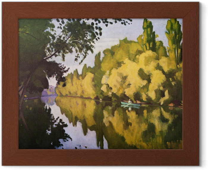Albert Marquet - La Varenne Saint-Hilaire - A Boat Framed Poster - Reproductions