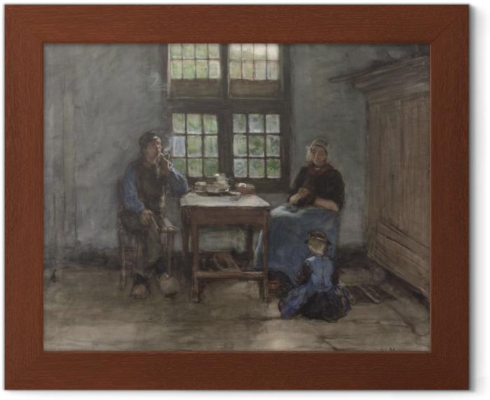 Plakat w ramie Anton Mauve - Wnętrze domu w Laren - Reproductions
