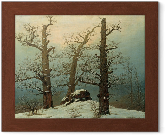 Caspar David Friedrich - Cairn in Snow Framed Poster - Reproductions