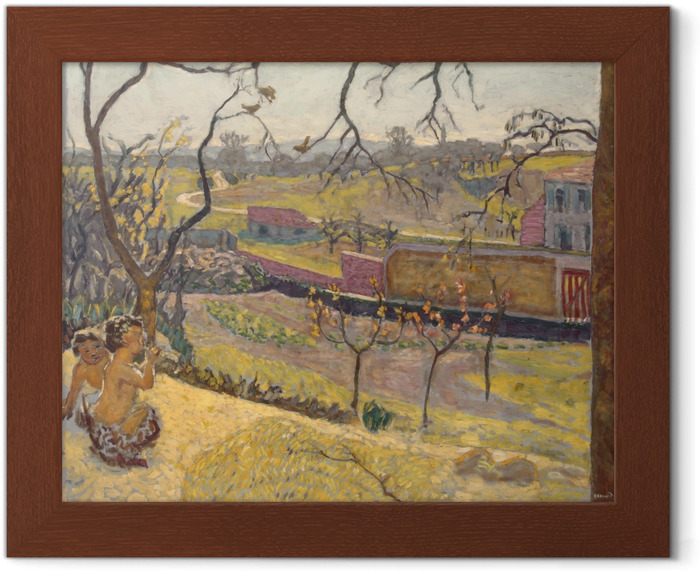 Pierre Bonnard - Early Spring. Little Fauns Framed Poster - Reproductions