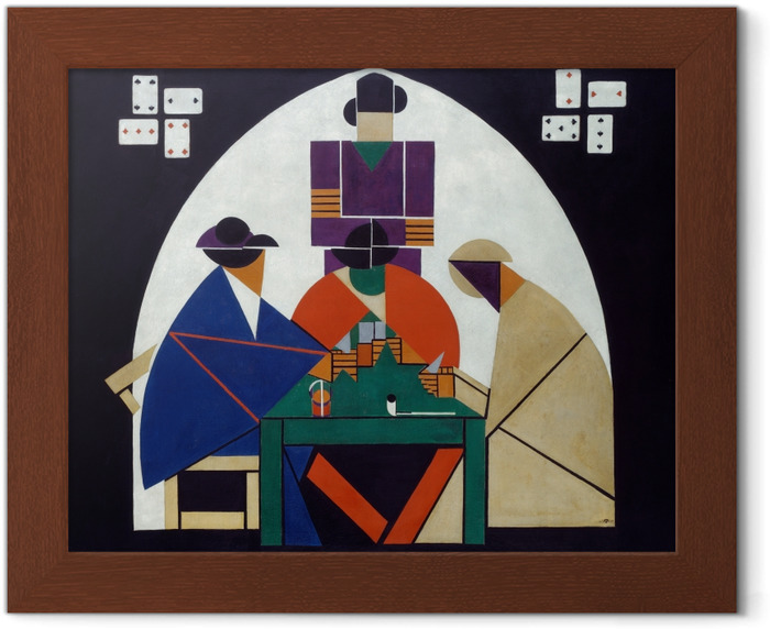 Theo van Doesburg - Card Players Framed Poster - Reproductions