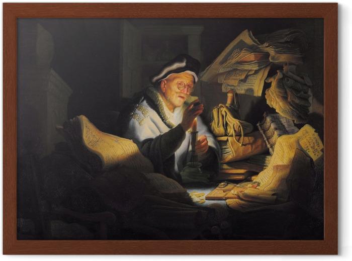 Poster in Cornice Rembrandt - Il cambiavalute - Riproduzioni