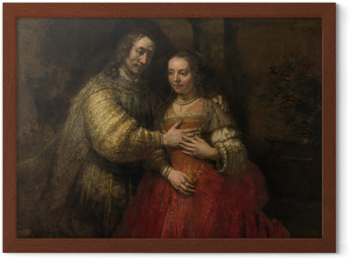 Rembrandt - Isaac and Rebecca Framed Poster - Reproductions