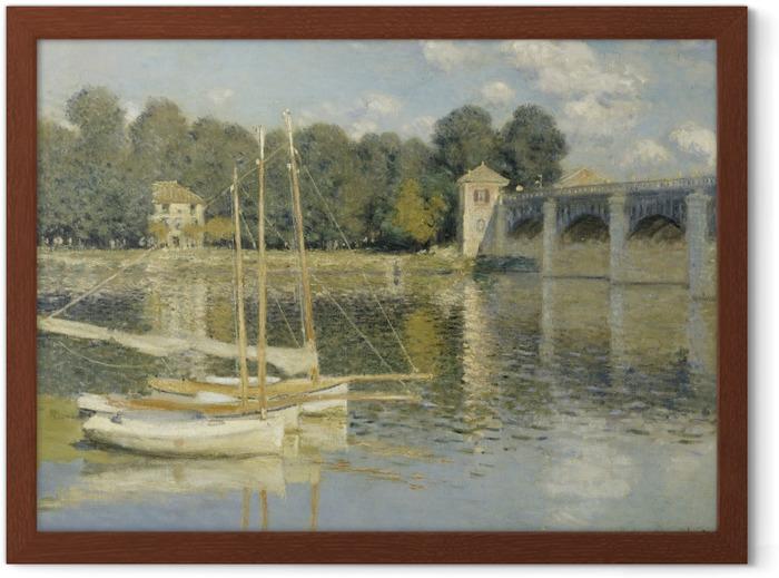 Plakat w ramie Claude Monet - Most w Argenteuil - Reprodukcje