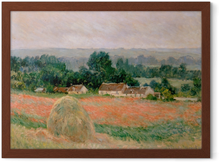 Claude Monet - Haystack at Giverny Framed Poster - Reproductions
