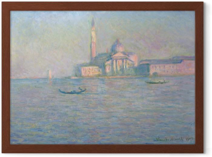 Póster Enmarcado Claude Monet - San Giorgio Maggiore - Reproducciones