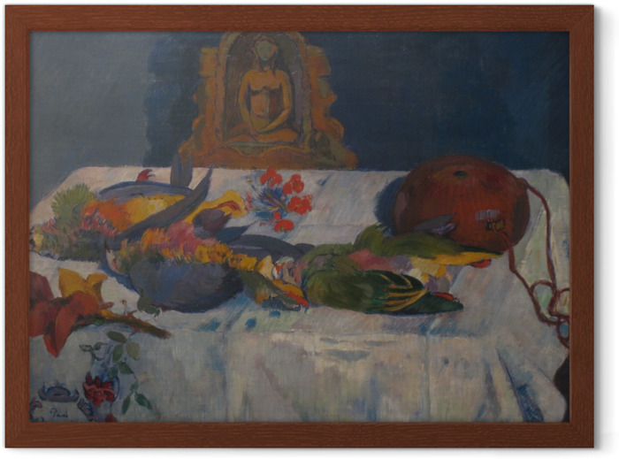 Paul Gauguin - Still Life with Parrots Framed Poster - Reproductions