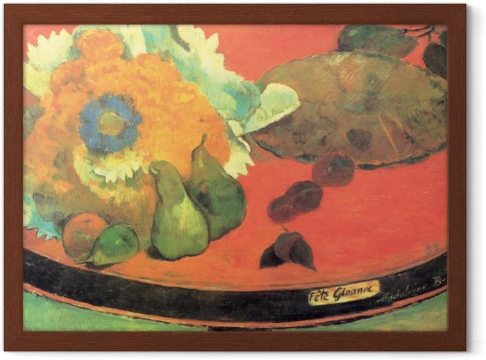 Gerahmtes Poster Paul Gauguin - Stillleben Fête Gloanec - Reproduktion