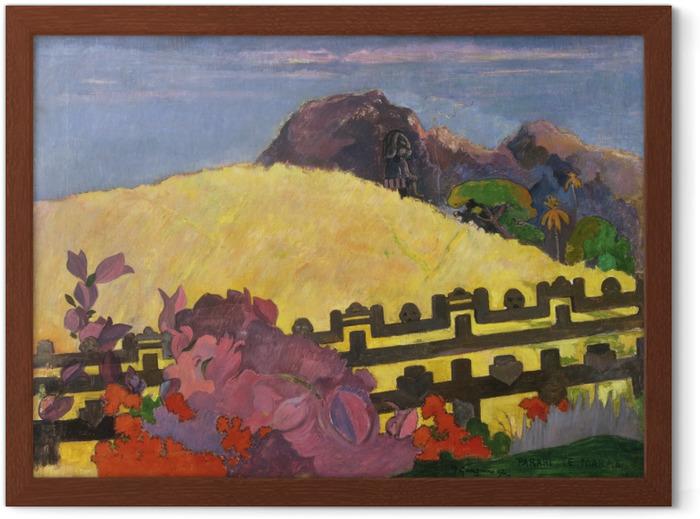 Paul Gauguin - Parahi Te Marae (The Sacred Mountain) Framed Poster - Reproductions