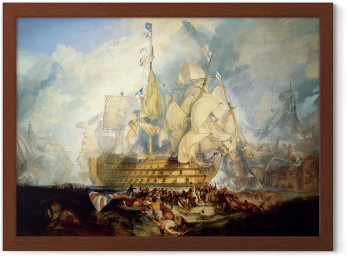 Plakat w ramie William Turner - Bitwa pod Trafalgarem - Reprodukcje