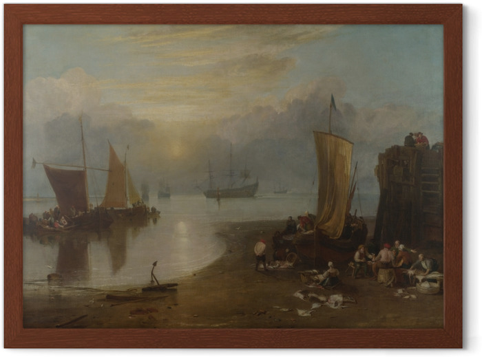 William Turner - Sun Rising through Vapour Framed Poster - Reproductions