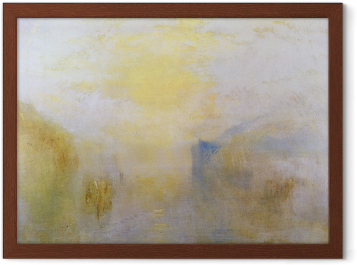 William Turner - Sunrise, with a Boat between Headlands Framed Poster - Reproductions
